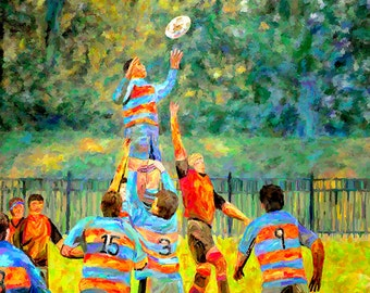 Rugby Canvas Print Fine Art Print Sports Art Home Decor Wall Art