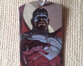 Falcon Marvel Captain America Upcycled Comic Book Dog Tag, includes necklace