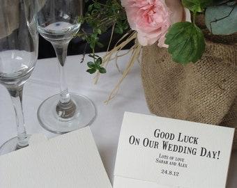 Bespoke Wedding Favour- Lottery Scratch Card Holder