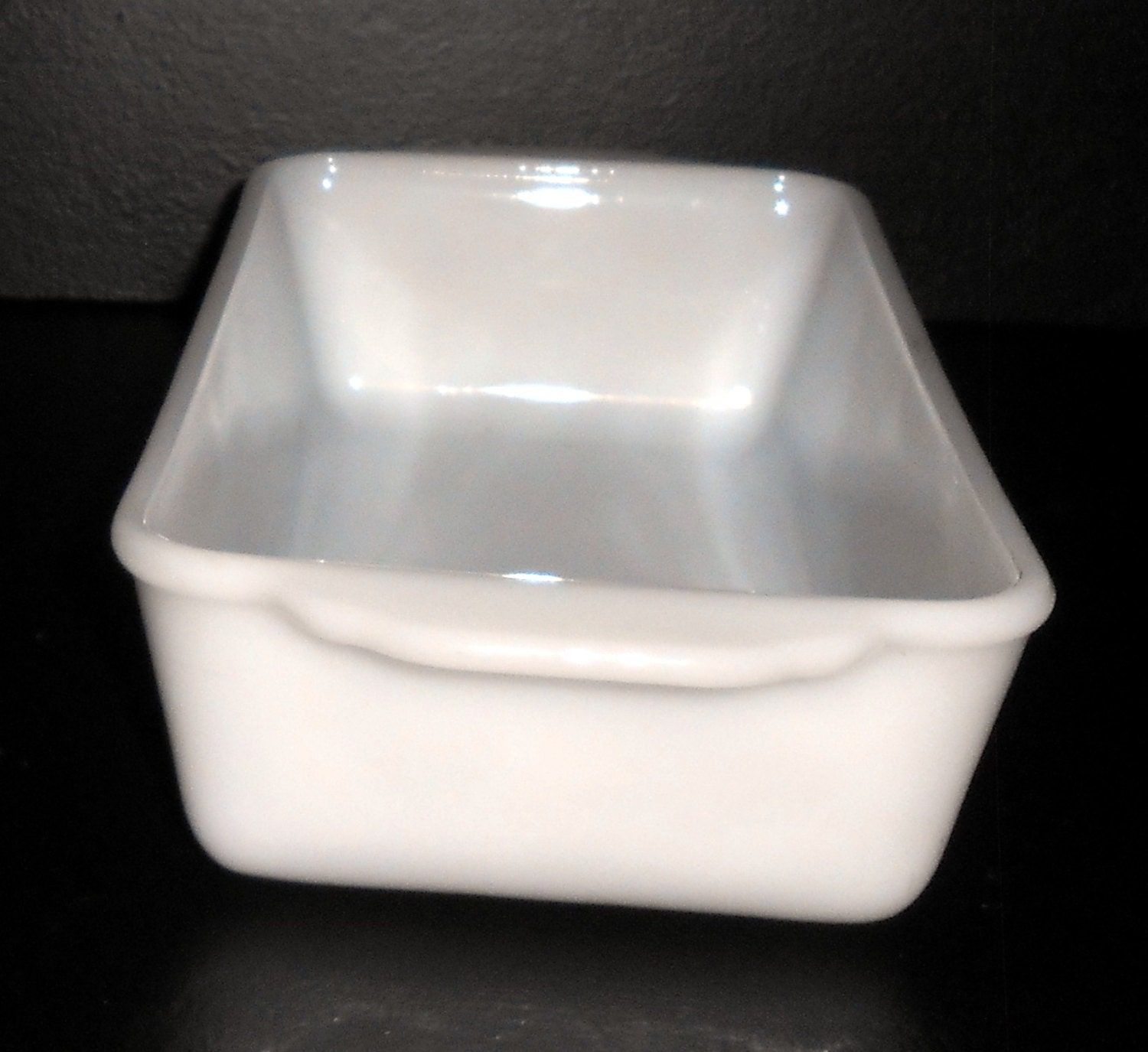 Vintage Casserole Dish Loaf Pan Fire King Milk Glass Bread