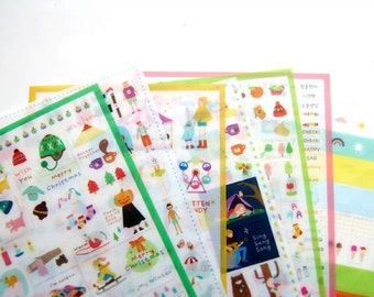 Madeleine Deco Sticker Set - Korean Sticker - Transparent Sticker - Waterproof Cell Phone Sticker - Filofax - 7 Sheets in