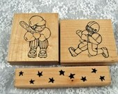 "CTMH Rubber Stamps  - MINT and Retired  -- ""All Star Kid"" - Baseball Moms - Baseball Grandmas - Football Stars - Scrapbooking, Crafting"