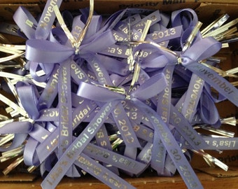 Personalized Ribbon For Party Favors 40, baby shower favors, wedding favors, baptism favors
