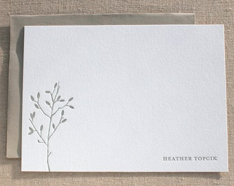 Custom Letterpress Cards with Branches