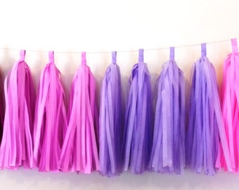 Tissue Paper Tassel Garland - Princess decor