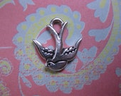 Bird charm jewelry supplies charm supplies Bird supplies