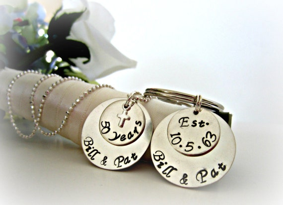 Personalised 50th Wedding Anniversary Gifts: Personalized 50th Wedding Anniversary Necklace By