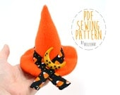 Plush Witch Hat Stuffed Toy Sewing Pattern PDF