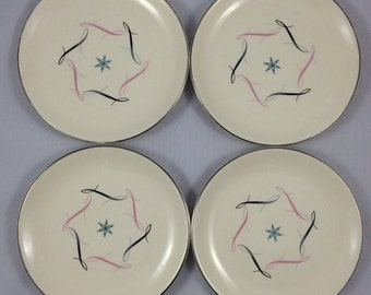 Allegheny Ware by Canonsburg Pottery - ESTRELLITA - 4 Bread/Dessert Plates - Beautiful