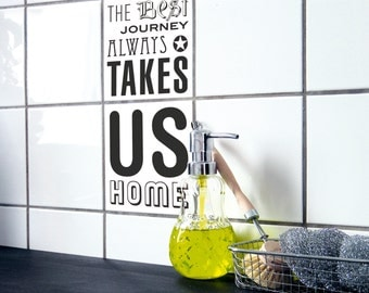 """tile decals - set of 2 - """"COMING HOME 03"""""""