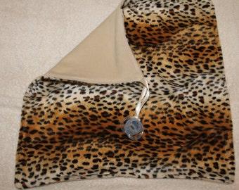 Clearance  Sale***Leopard Binky Blanket