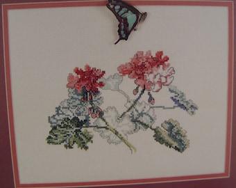 Geranium II Study by Janet Powers Cross Stitch Pattern