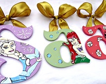 Princess Disney Inspired Painted Wood Wall Letters