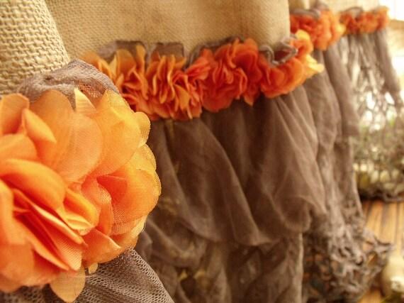 "72"" SHABBY Rustic Chic Burlap SHOWER Curtain Lace Ruffles - Black ..."