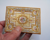 Half inch scale Aubusson Rug KIT Blue or Plum in fine petitepoint