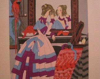 Will he like me?.... - Lui Plairaije?... - Rosa Sara (Ro) Keezer: Original Pochoir Fashion Print C1930s