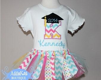 Personalized Preschool or Kindergarten Graduation Fabric Tutu Outfit