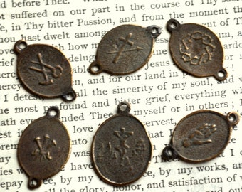 Five Wounds of Christ - Wounds of the Passion - Chaplet Set - Seven Sorrows of Mary - Bronze or Sterling Silver
