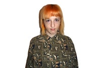 SALE Cool Camo Duck Button Up Collared Shirt