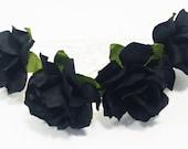 Black Rose Floral Hair Pin Set/ Gothic/ Alternative/ Bridal/ Wedding Hair Accessories/ Bridesmaid Hair Pin/ Wedding Flower Pins