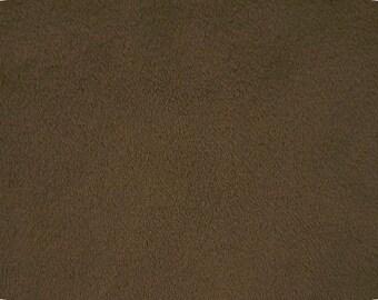 BROWN plush minky fabric - 1 yd cut