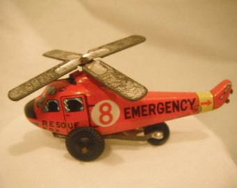 Vintage tiny tin helicopter, made in Japan