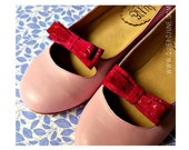 Katia Pink - Leather ballet flats in Pink. Flat shoes. Handmade shoes. Quiero June