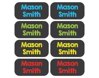 100 - Clothing Tag Labels - Set of 100 labels - Daycare Clothing Labels - Chalkboard Font