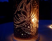 Butterfly Copper Candle Lantern (for indoor or outdoor use)