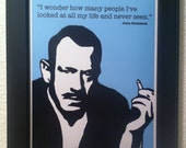 John Steinbeck with Quote Art Print