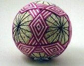 "Japanese Temari Ball - Ring Design (SMALL 2 3/4"")"