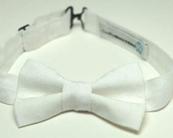 Bow Tie - White with Stars Bowtie