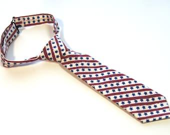 American Flag Neck Tie With Adjustable Strap
