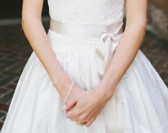 """Wedding Bridal Champagne Ribbon Sash, Wedding Sash, Bridal Sash, Satin Sash  1 1/2"""" 40mm"""