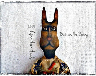 Primitive rabbit pattern Butters The Bunny Click Your Heels