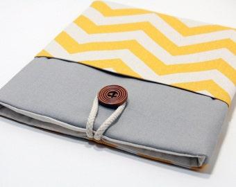 New Macbook 12 Sleeve Chevron Microsoft Surface Pro 4 Case Padded Microsoft Surface Handmade Cover- Chevron Yellow