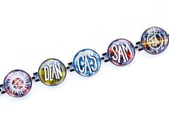 Supernatural Bracelet // Magnetic Bracelet // Dean Winchester Bracelet // Castiel Bracelet // Crowly Bracelet // Anti-Possession Bracelet