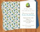 Nautical Sailboats Invitation | Kids Birthday | Printable Digital File | KBI302DIY