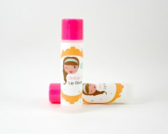 Natural Orange Juicy Lip Balm-Tweens-Girls Gifts,Chapstick,Flavored Lip Gloss,Lip Balm for Kids
