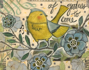 Giclee Reproduction from Original Mixed Media A Seed is a Promise Ceville Designs PRINT