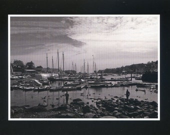 Camden, Maine, in black and white - photo card