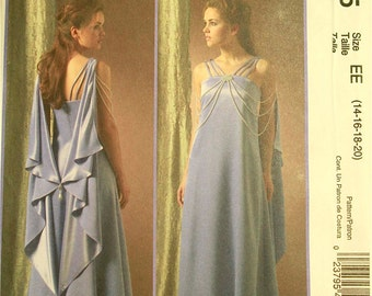 Padme Amidala, Evening Gown, Star Wars Costume -2000's - McCall's Pattern 4995 Uncut  Size 14-16-18-20  Bust 36-38-40-42""
