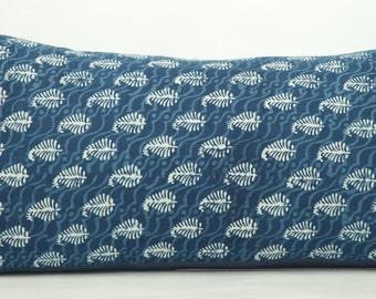 Standard Size Indigo Paisley Pillow Shams