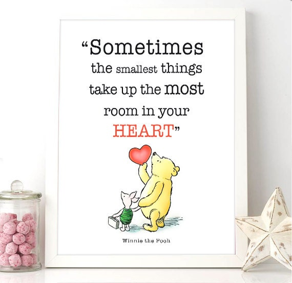 Winnie The Pooh Quotes Sometimes The Smallest Things: Printable Winnie The Pooh Quote Sometimes The Smallest