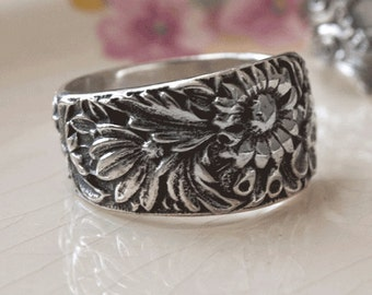 "Spoon Ring: ""Corsage"" by Silver Spoon Jewelry"