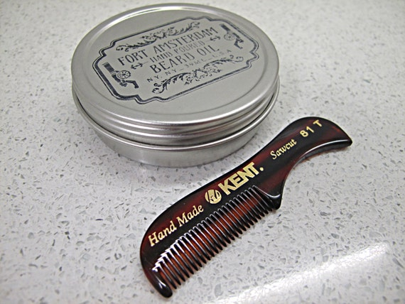 hand poured beard wax with handmade kent comb you pick scent. Black Bedroom Furniture Sets. Home Design Ideas