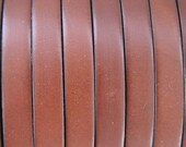 1 yard/ 1 meter  20%off 10mm flat medium Brown first qualityleather cord
