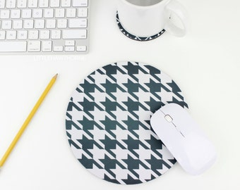 Houndstooth Mouse Pad / Mousepad / Mat