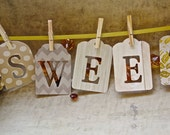 Gold Baby Shower Decorations. Neutral Baby Shower Banner Sign. Sweet Baby Banner.