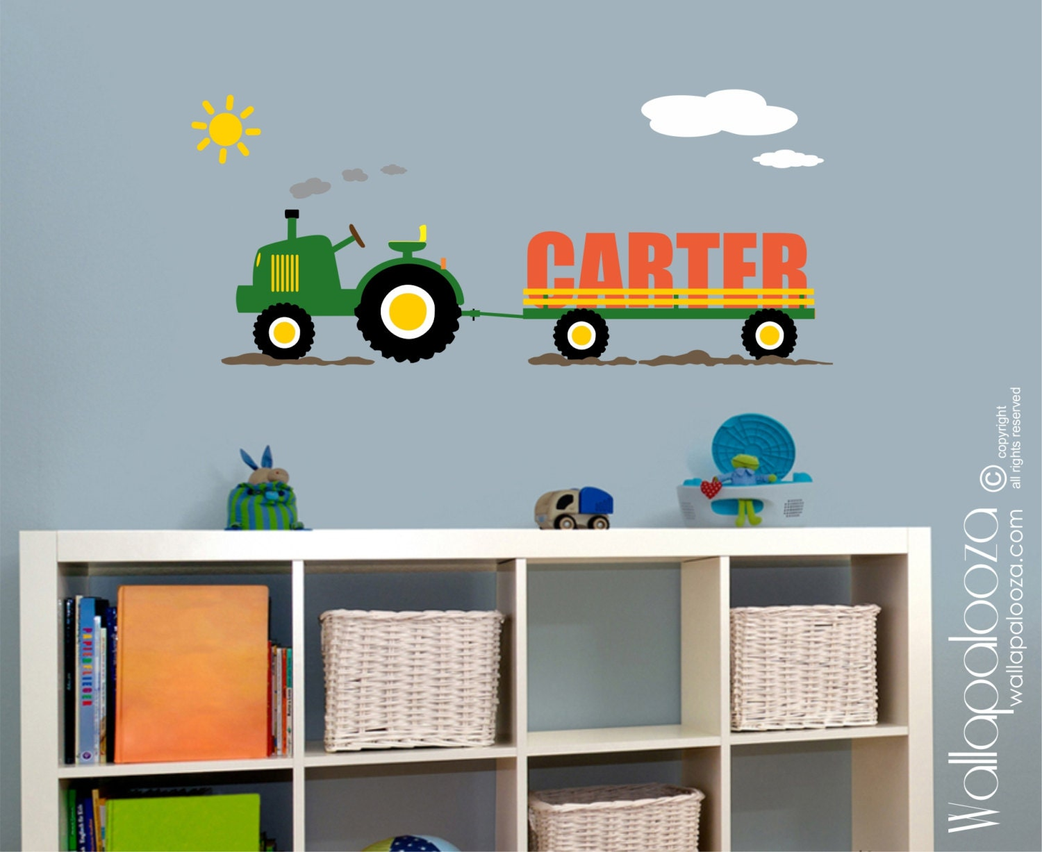 Tractor wall decal wall decor boys room wall decal zoom amipublicfo Choice Image